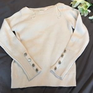 Zara knit sweater with button accents